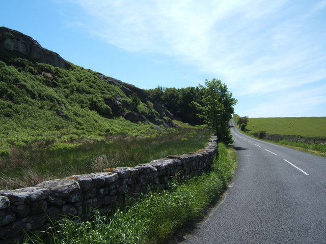 Looking south along the B6342