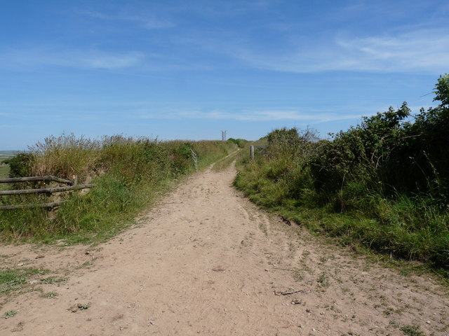 Long Lane (ahead), Hole Lane (left) and Hannabarrow Lane (right)