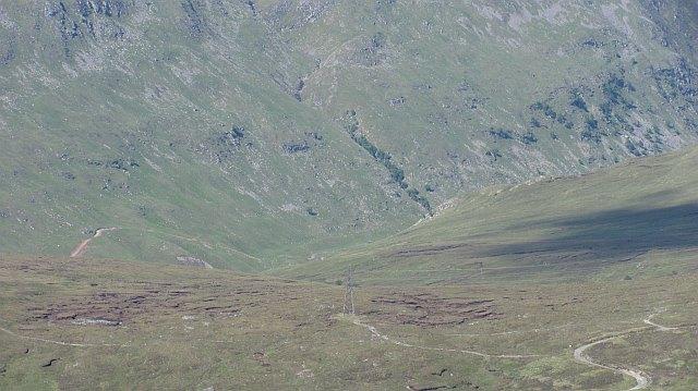 Corrieyairack Pass seen from Poll-gormack Hill