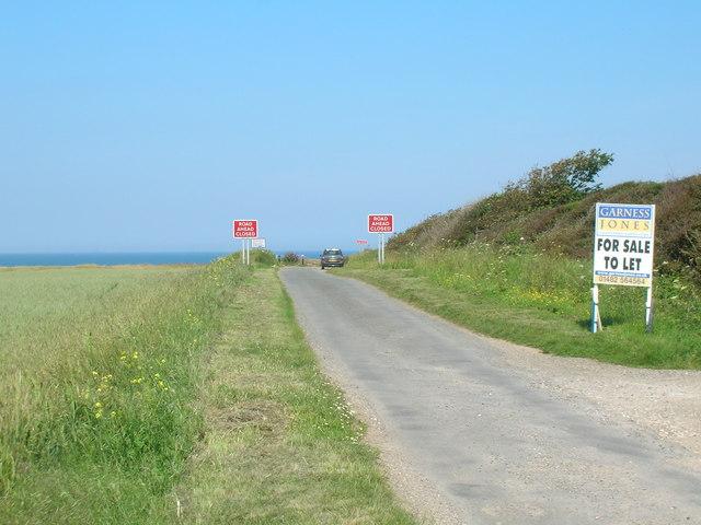 Seaside Road towards the cliffs, Holmpton