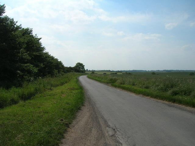 Minor road towards Patrington
