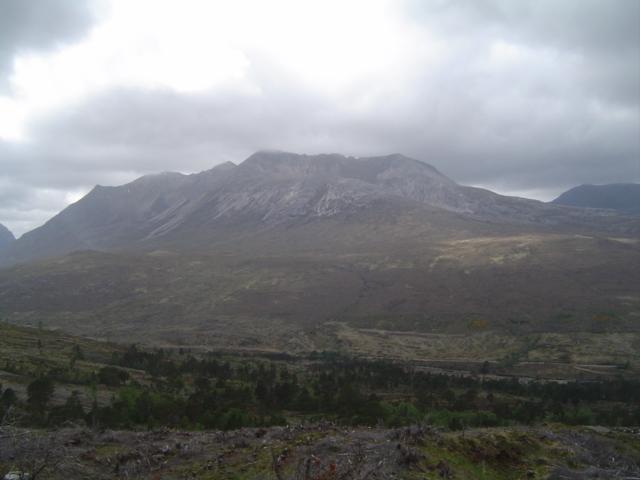 Looking over Feith an Tairbh towards Beinn Eighe