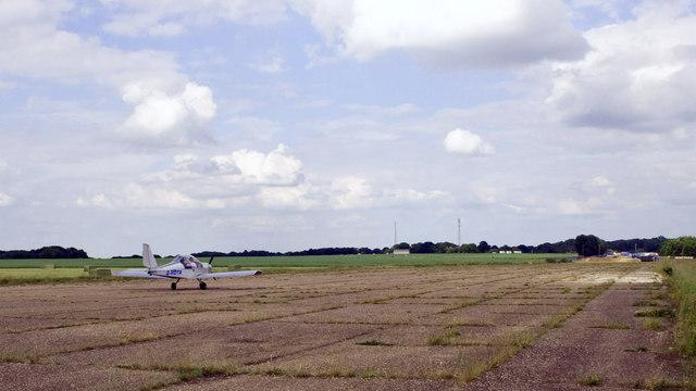 Take off from Bovingdon Airstrip