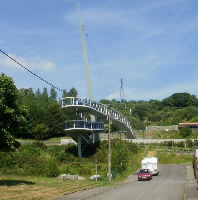 Cwm footbridge from the SW