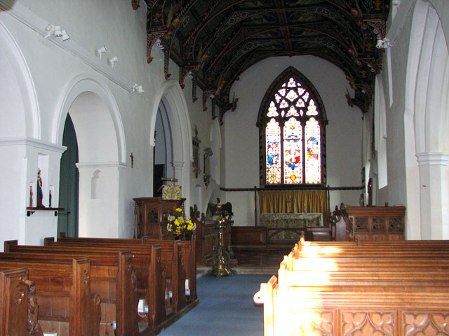 St Mary's church in Huntingfield - view east