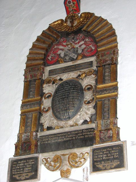 St Mary's church in Huntingfield - memorial