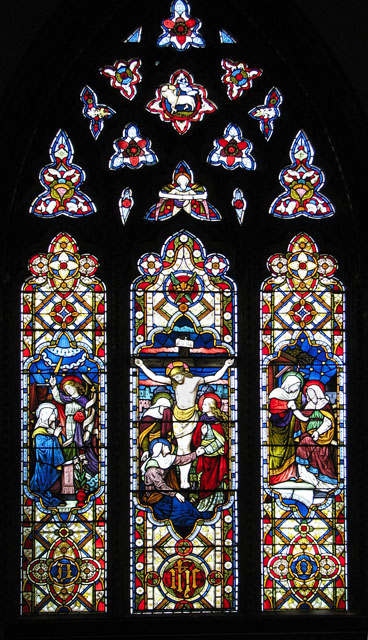 St Mary's church in Huntingfield - east window