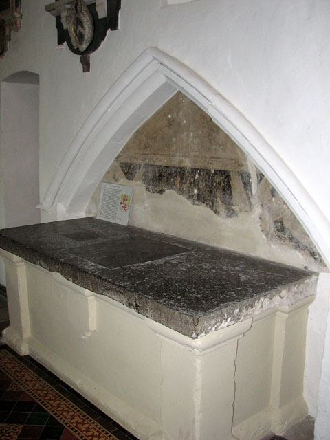 St Mary's church in Huntingfield - table tomb
