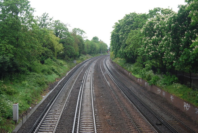 Railway line north, Tooting Bec Rd