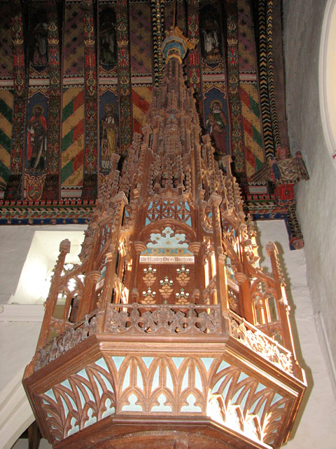 St Mary's church in Huntingfield - Victorian font cover