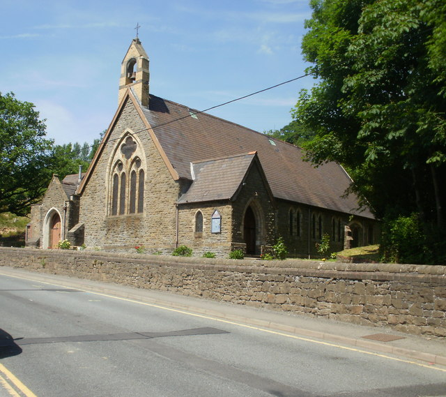 St Paul's Church, Cwm, viewed from the south