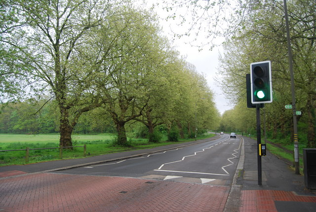 Bedford Hill (B242) crossing Tooting Bec Common