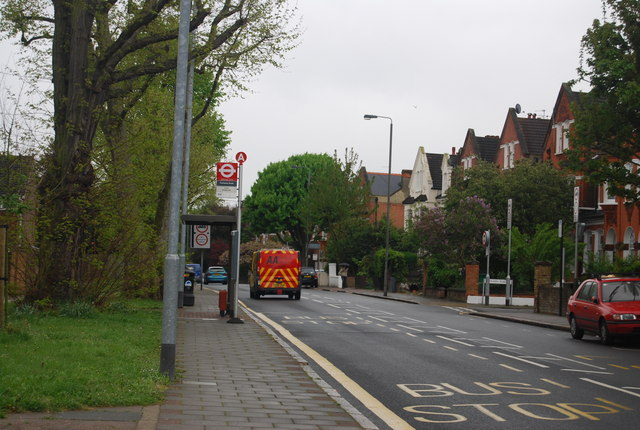 Bus stop, Bedford Hill (B242)