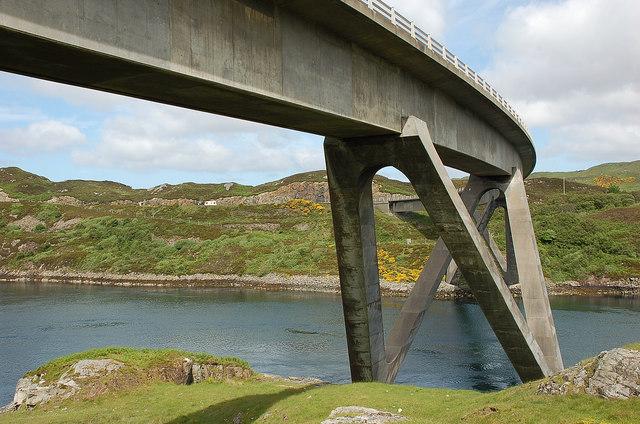 Kylesku Bridge from the south