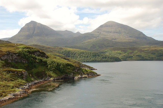 Quinag from the Kylesku Bridge