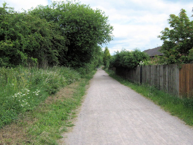 Biddulph Valley Way towards the old station