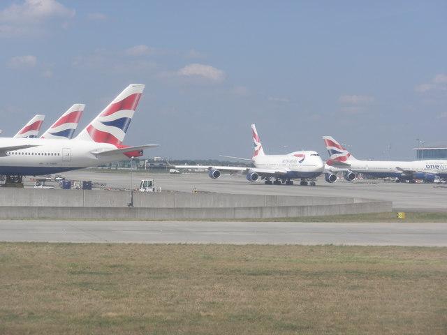 Airport apron, Heathrow