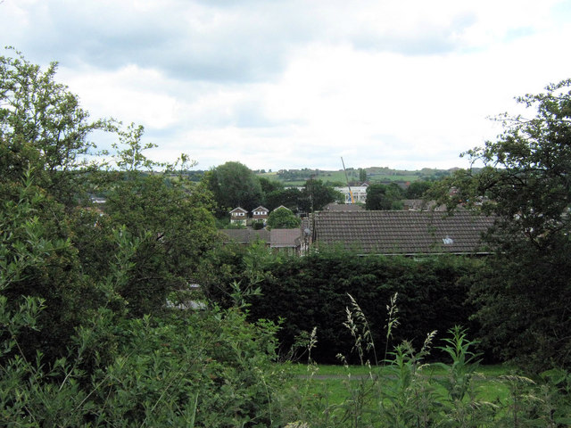 Looking across the housing estate