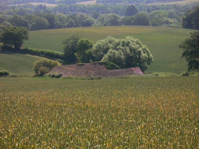 U shaped barn near Shalford (1)