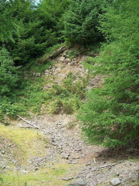 Disused quarry above Llaneglwys Uchaf