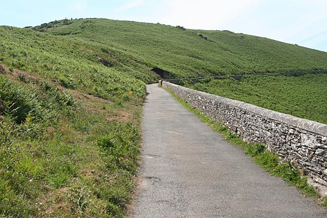 Stokenham: road from the lighthouse