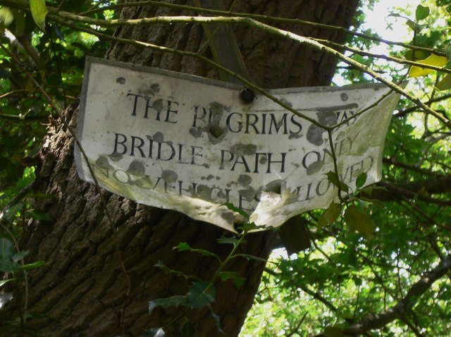 Battered notice on the Pilgrims' Way
