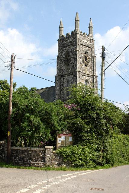 North Brentor Church from Brentor High Street.