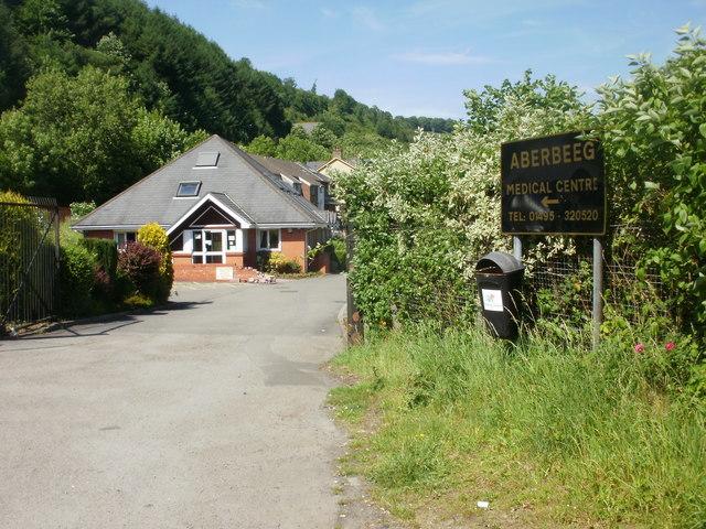 Entrance to Aberbeeg Medical Centre