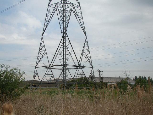 Pylon in Rainham Marshes Nature Reserve