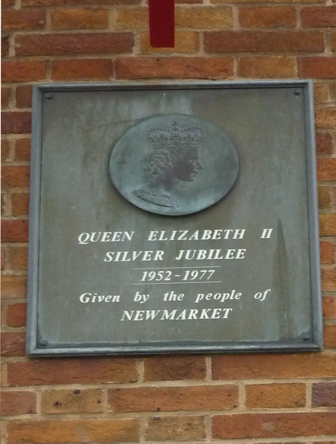 Newmarket Post Office Silver Jubilee Plaque 1977