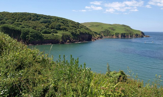 Headland across Hope Cove