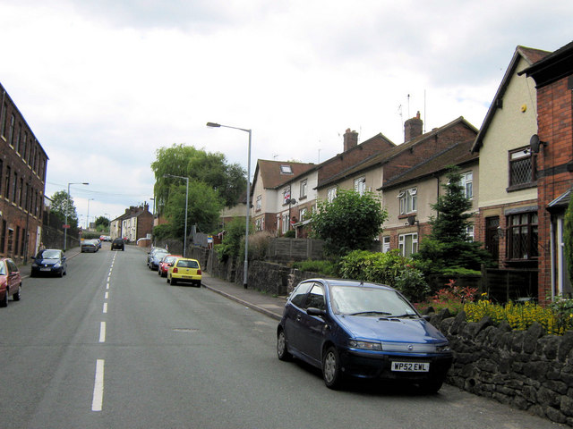 Looking up Station Road