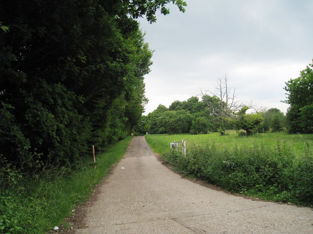 Track and Footpath to Woolton Farm