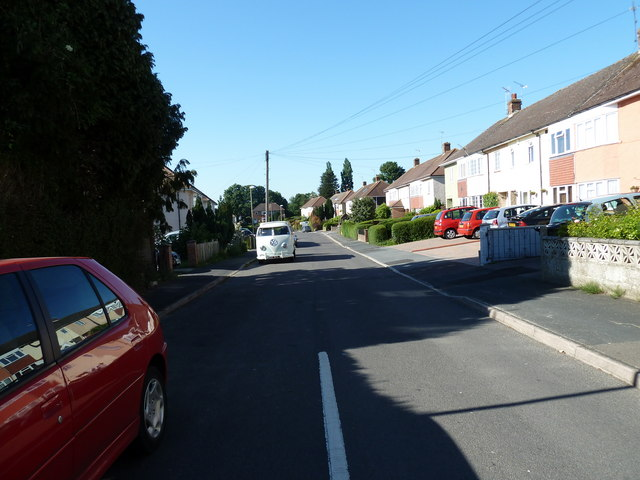 Approaching a VW camper van in Serpentine Road