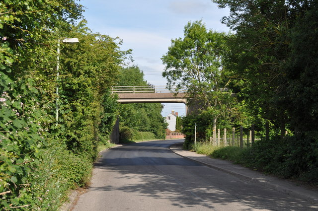 Looking along Sandhurst Road towards dual carriage way bridge