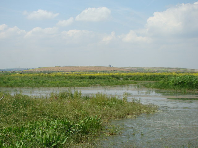 View of the hills around Coldharbour Lane, viewed from Rainham Marshes Nature Reserve