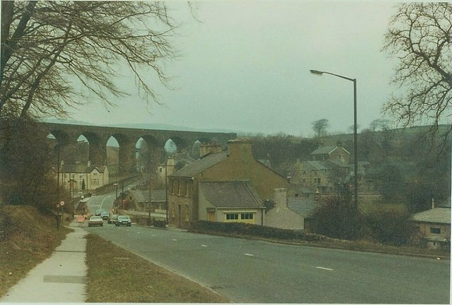 Buxton Road, Chinley in 1984
