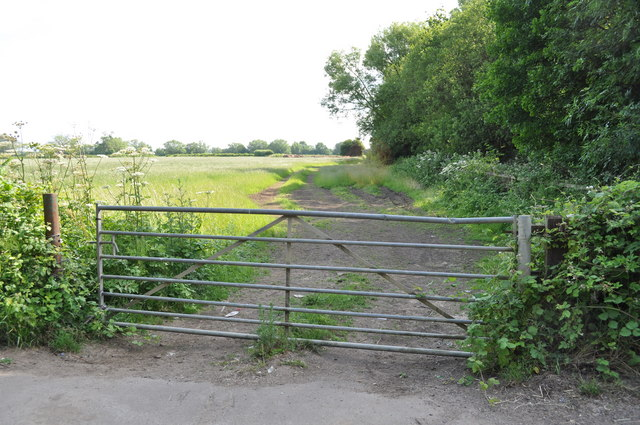 Gate on to farmland on Sandhurst Road