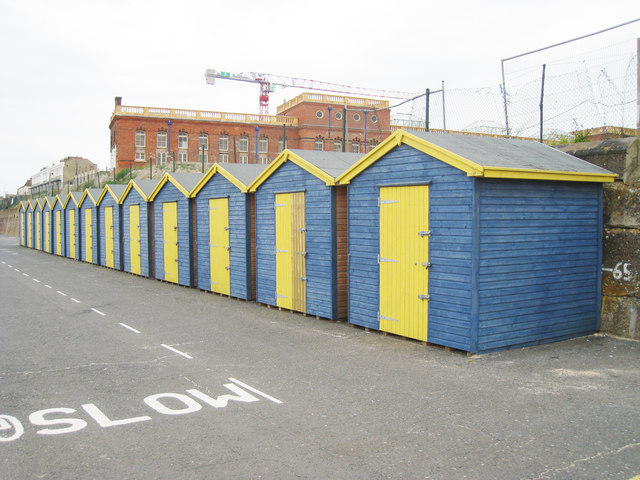 Beach Huts on Westbrook Promenade