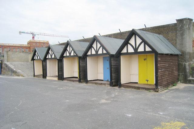 Beach Huts on Westbrook Promenade
