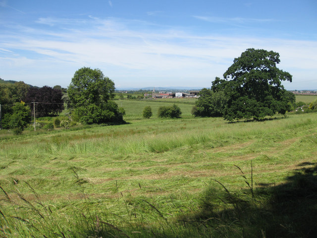 View to Ross over Lower Weston Farm
