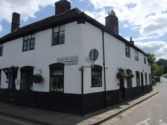 Corner of Severn Side North and Dog Lane, Bewdley