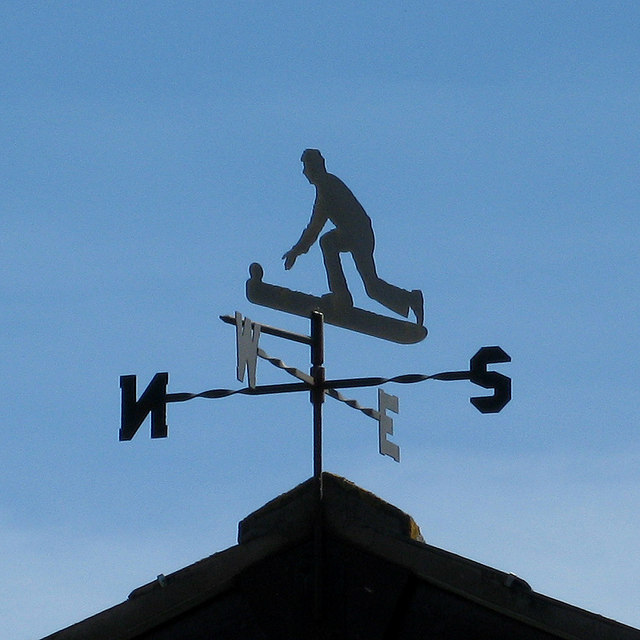 Bowls themed weather vane