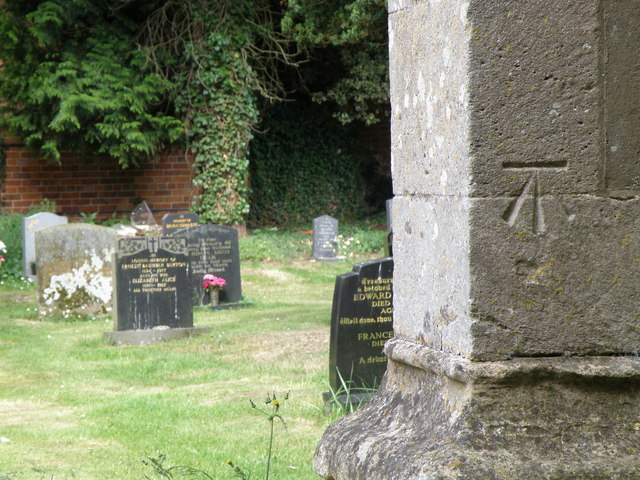 Bench Mark. Old Bolingbroke church
