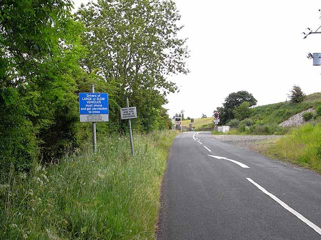 Level crossing at Upper Denton