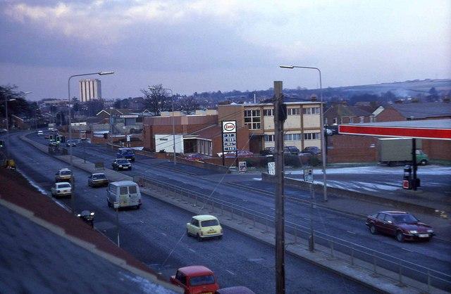 View from the Gosport Road footbridge (1987)