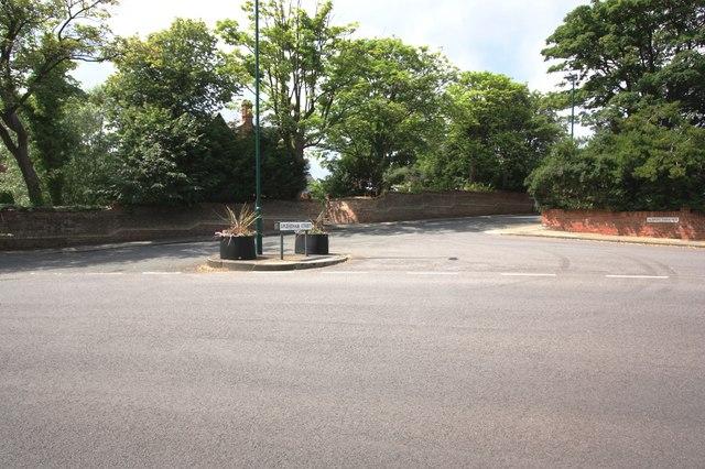 Road junction in Saltburn