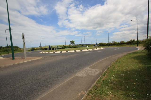 Roundabout on Saltburn Lane