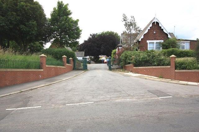Entrance to Skelton Cemetery