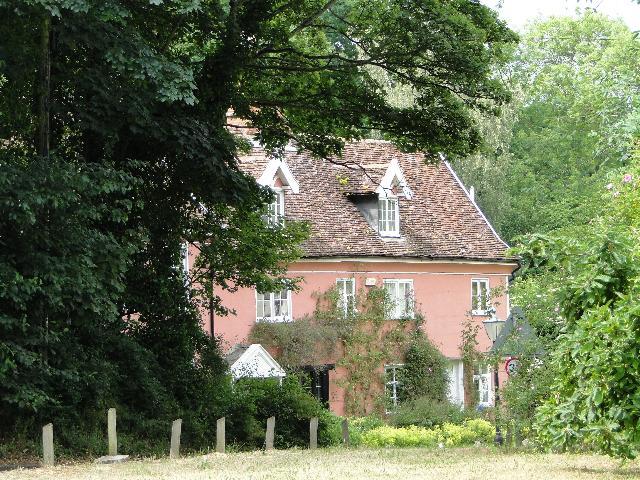 Pink house at Ufford